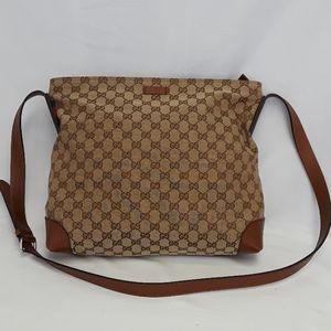New GUCCI 308930 unisex canvas messenger bag